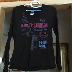 Womans Harley Davidson Black long sleeve